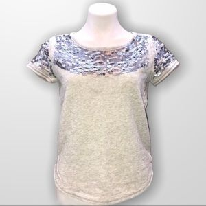 AERIE Gray Sequin Sweater Size Small
